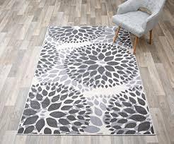 rug modern fl circles design area rug 5 x 7 gray b0791jpngl