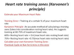 heart rate training zones karvonen s principle