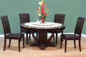 60 round espresso dining table round espresso dining table set interior intended for remodel 9 60