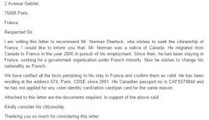 Citizenship Letter Of Recommendation Sample Mamiihondenk Org