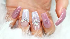 how to gorgeous acrylic coffin mauve nails