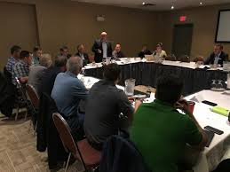 mla dan davies speaks at a forestry roundtable discussion in fort st john july 4 2019