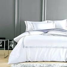 grey white duvet cover silky cotton hotel white bedding set embroidery duvet cover set queen king