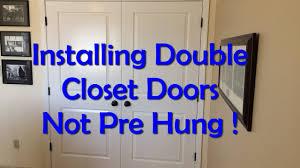 double closet door installation not pre hung