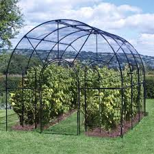 garden cages. Exellent Garden A Roman Fruit Cage In Traditional Gloss Black Is Made Of Galvanized Steel  And At Its In Garden Cages H
