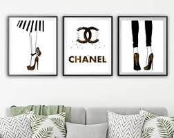 absolutely design chanel wall art elegant print poster choose colors cc dripping coco logo decor canvas on set of 3 wall art australia with shining inspiration chanel wall art simple design decor etsy set of