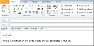 outlook mail templates how to create and use templates in outlook