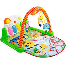 Amazon.com: Tapiona Baby Play Gym Piano - Infant Activity Kick and Mat 0m+ Boy Girl Newborn \u0026 Toddler for Lay Play, Sit