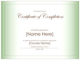 free certificate of completion template 018 best images of certificate completion template blank free via
