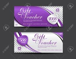 Gift Certificate Template With Logo Purple Gift Voucher Template Coupon Design Gift Certificate