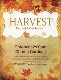 Fall Festival Flyers Template Free Free Fall Flyer Templates Church Harvest Festival Flyer Template
