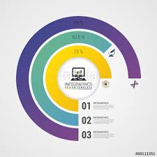 Create Pie Chart In Illustrator Cc Pie Chart Circle Graph Modern Infographics Design Template