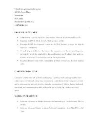 Example Resume Summary Simple Resume Summary Examples For Medical Assistant Section Skills Example