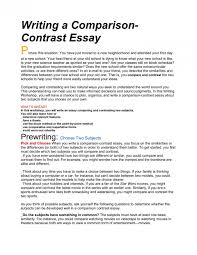 Comparison And Contrast Essays Examples 10 How Write A Compare And Contrast Essay Proposal Sample