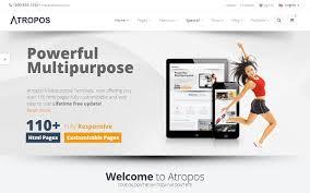 Responsive Website Template Custom Atropos Responsive Website Template WrapBootstrap