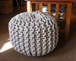 Knitted Rope Pouf