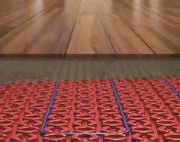 heating under hardwood floor heating