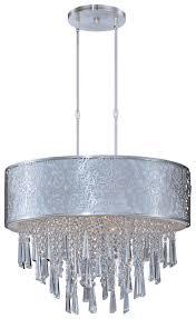 maxim 22295wtsn rapture white shade large 9 lamp crystal hanging drum pendant lighting loading zoom