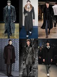 fur and velvet collar coats on the aw14 menswear runways