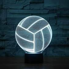 <b>Volleyball 3D Illusion</b> Lamp - Boffo Lights