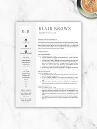 Professional Resume Paper Classy Professional Resume Template Free Resume Template Resume Etsy
