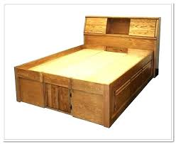 diy king size bed frame and headboard with lights for bedrooms cool