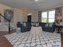 white navy blue indoor rug light blue living room rugs