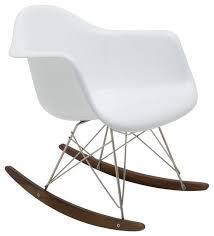 Baha Rocking Chair, White Fiberglass midcentury-rocking-chairs