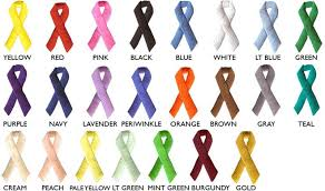 Embroidered Awareness Ribbon Appliques