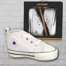 converse baby shoes first star leather white
