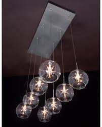awe inspiring interior multi light pendant decorating ideas simple minimalist chandelier modern handblowns glasses tempers