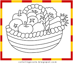 Small Picture Fruit Basket Coloring Pages To Print Coloring Home