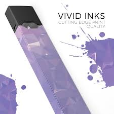 Why Is My Juul Light Purple Light Purple Geometric V13 Premium Decal Protective Skin Wrap Sticker Compatible With The Juul Labs Vaping Device