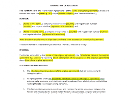 termination of agreement template uk template agreements and termination of agreement template uk template agreements and sample contracts