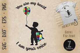 Use these free christmas truck svg files and let the holiday crafting begin. Autism You Are My Heart I Am Your Voice Graphic By Zemira Creative Fabrica
