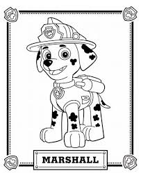 Paw Patrol Coloring Pages Marshall Coloringstar