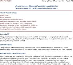 How To Format A Bibliography Or References List In The American