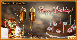 Champagne Cake Happy Birthday Card Happy Birthday Videos And