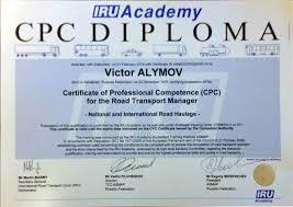 Услуги транспортной компании Отвозим Документы транспортной компании Отвозим · Допуск Международные перевозки Диплом iru