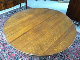 gorgeous antique oak round pedestal dining center table with griffin legs circa 19th century for