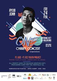 Concert Poster Design One Charity Concert Ayub Jonn Ft Laze Event Poster Design