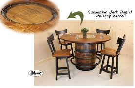 whiskey barrel set