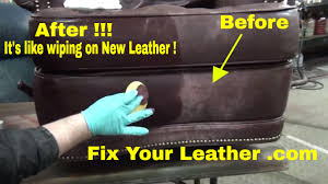 fix worn and faded leather the easy way