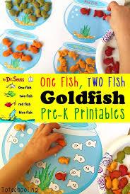 FREE One Fish Two Fish Goldfish Cracker Printables | Goldfish ...