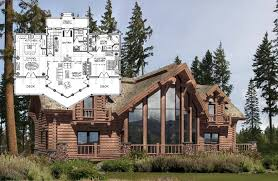 Spencer Log Home And Log Cabin Floor Plan  A Place To Call Home Open Log Home Floor Plans