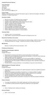 Resume Pharmacist Sales Pharmacist Lewesmr
