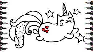 Cartoon Unicorn Coloring Pages For Kids Printable Page With Fortune
