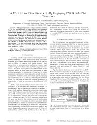 The Design Of Cmos Radio Frequency Integrated Circuits Lee Pdf Pdf A 12 Ghz Low Phase Noise Vco By Employing Cmos Field