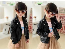 fashion baby boys girls faux leather jackets coat kids trendy tops outwear boys clothing autumn winter