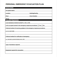 personal evacuation plan template care homes house